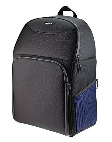 Sac à dos Navitech Rugged noir et bleu à dos pour le HUBSAN H501S