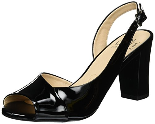 Caprice Damen 28304 Slingback, Schwarz (Black Patent), 38 EU