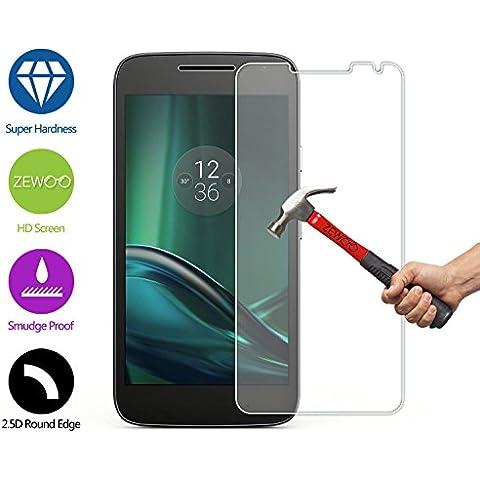 Para Motorola Moto G4 Play XT1607 XT1609 (5 pulgadas) Protector de Pantalla ZeWoo® Cristal Vidrio Templado Premium (9H *2.5D,