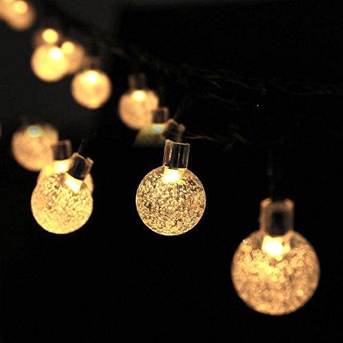 Alftek 6 M 30 LED Lichter Solarbetriebene Fairy Bubble Ball String Licht Im Freien für Weihnachten Festival Garten Dekorative Lampen (Im Freien Weihnachten-lichter)