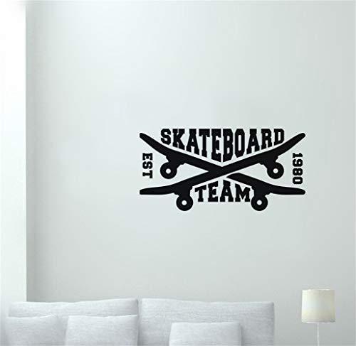 Wandtattoo Kinderzimmer Rollschuh Skate Aufkleber Longboard Sports Aufkleber Kinderzimmer Poster Dekor Wandaufkleber für Wohnzimmer
