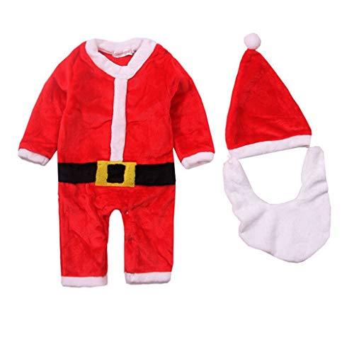 Cuteelf Infant Santa Claus Kostüm Leistung Kostüme Verdicken Kletteranzug Bart Weihnachten Winter Warme Overall Hut Schnurrbart Jacke Cosplay
