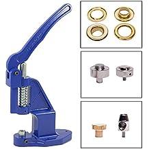 GETMORE Parts Prensa Ojales (Azul) en Set Incl. Máquina para Hacer ojetes +