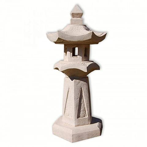 Japan lamp, white, pagoda 1 level, Thailand imported decoration (10529)