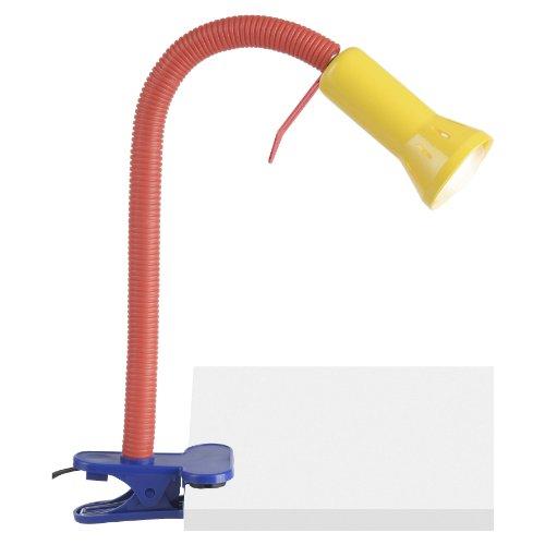 Brilliant Flex Klammerleuchte, 1x E14 max. 40W, geeignet für R50 Reflektorlampen, mehrfarbig 24705/72 (Flex-steckdose)