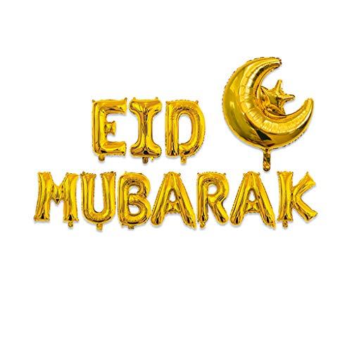 Wondful 16 '' Happy Eid Mubarak Ramadan Brief Folienballons Dekoration Alphabet Banner Mond Set Partei Liefert Für (Partei Dekorationen Und Liefert)