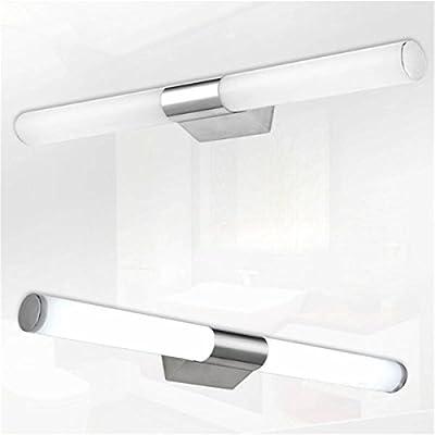 TOOGOO(R) 10W LED AC110-220V Warmweiss Spiegelleuchte Edelstahl ...