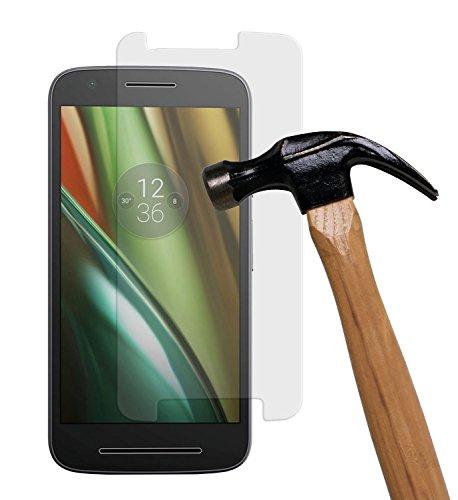 yayago Bildschirmschutzglas 0 26 mm Bildschirmschutzfolie für Lenovo Motorola Moto E3 Glasfolie Hartglas 9H (bewusst Kleiner als Das Bildschirm da Dieses gewölbt ist)