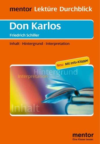 Friedrich Schiller: Don Karlos - Buch mit Info-Klappe