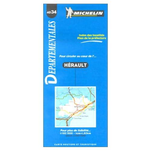 Carte routière : Hérault, 4034, 1/150000
