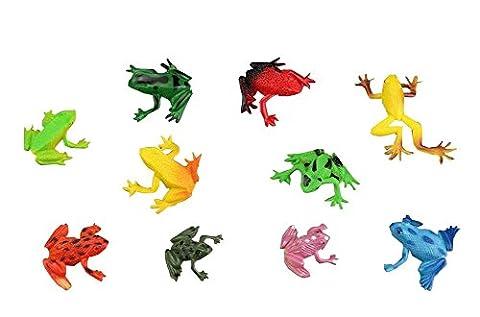 10 PCS [Frogs Mignon] Drôle PVC Enfants jouets éducatifs pour bébés Modèles anim