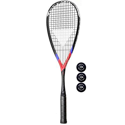 Preisvergleich Produktbild Tecnifibre Carboflex X-Speed 125 Squashschläger + 3 Dunlop Pro Squashbälle