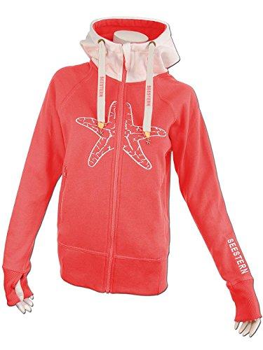Seestern Sportswear - Sweat à capuche - Femme Rouge bordeaux