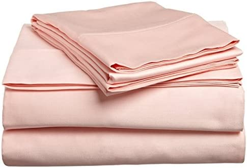 Bedding- Egiziano 400 Fili 66 cm Tasca Sheet Profonda 6PC Sheet Tasca Set UK Peach Solido Singolo 100% Cotone Egiziano b56a6a