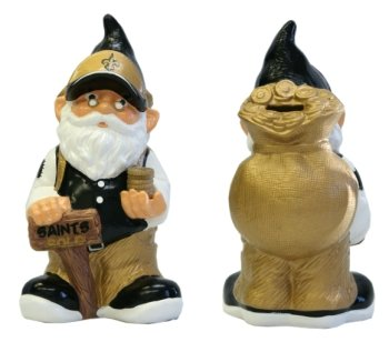 NFL New Orleans Saints Team Gnome Bank