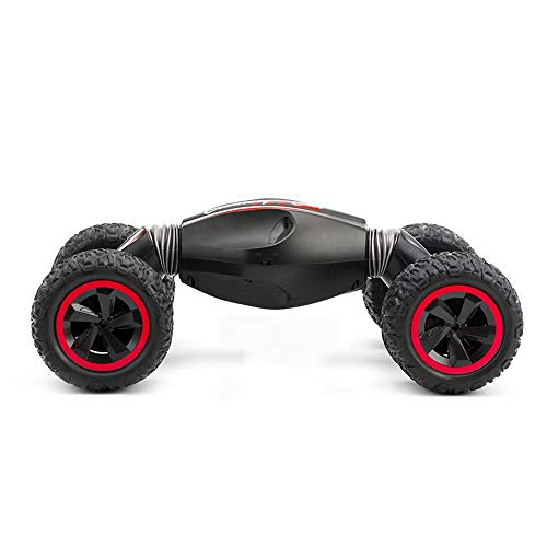 Tagke Allradantrieb Geländewagen Fernbedienung Auto 3-10 Jahre alt Stunt Twisted Car Lade Klettern Drift Kinder Spielzeugauto Junge (Color : B, Größe : Single Battery)