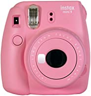 Fujifilm Instax Mini 9 Camera Smoky White, Camera, Blush Rose
