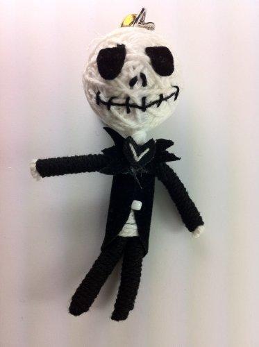 Jack Skellington A Nightmare Before Christmas String Doll Voodoo-Puppe Schlüsselanhänger Glücksbringer Ornament