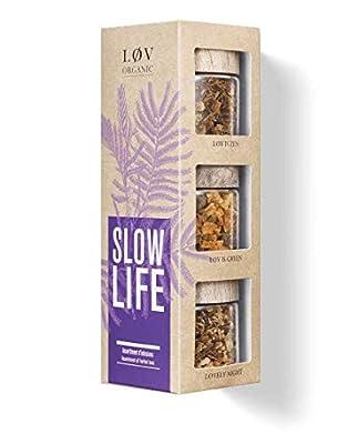 Løv Organic - Coffret Slow Life - Assortiment de 3 Miniatures - Infusions Aromatisées en Vrac - Environ 45 Tasses - Mélanges issus de l'Agriculture Biologique