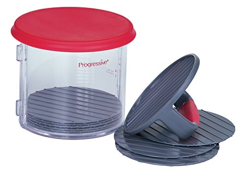 progressive-11-piece-hamburger-patty-caddy-8-dividers-with-press-plate-lid-new