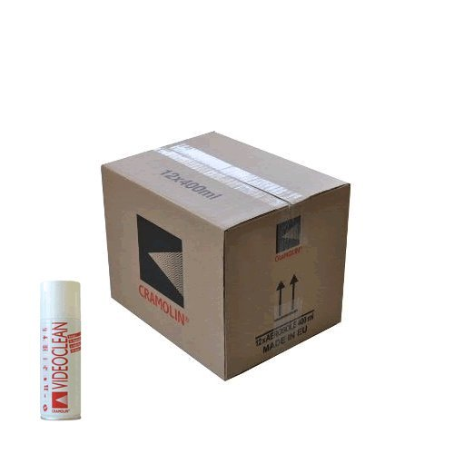 Preisvergleich Produktbild VIDEOCLEAN - VPE: 12 x 400ml Spraydose - Reiniger speziell für Bandabrieb und Magnetköpfe - ITW Cramolin - 1031611 - rasch und zuverlässig, inkl. 6 St. orig. DEWEPRO® SingleScrubs