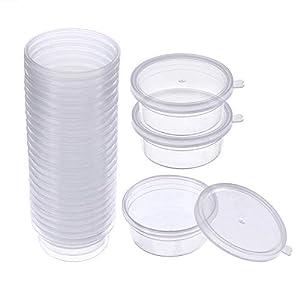 Simuer Slime Storage Containers, 24 Pack Slime Aufbewahrungsbehälter Aufbewahrungsbox mit deckel, durchsichtigen Kunststoff-Speicher für Perlen Schaum Schleim Kristall Schleim Flaumig, auslaufsicher