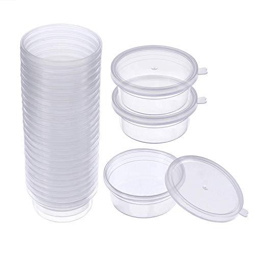 SIMUER Contenitori per la conservazione della melma, 24 Pack Contenitori Plastica Contenitori di stoccaggio di melma per Slime sfere di palline di gomma piuma e perline di acquamarina