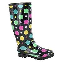 Spot On Womens/Ladies Polka Dot Design Rubber Wellington Boots
