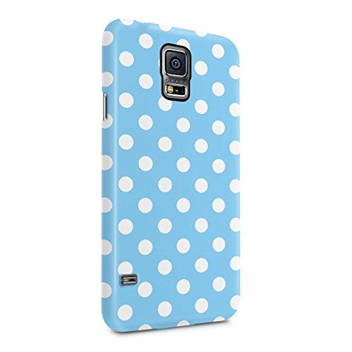 Baby Blue Polka Dots Pattern Dünne Rückschale aus Hartplastik für Samsung Galaxy S5 Mini Handy Hülle Schutzhülle Slim Fit Case Cover Dots Cover Case Snap