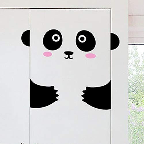 Dokfh Nette Tiere Panda/Kätzchen Tür/Wandaufkleber DIY Schlafzimmer Kunst Wohnkultur Wandvinyl Tapete Tür Dekorationen Aufkleber Decals