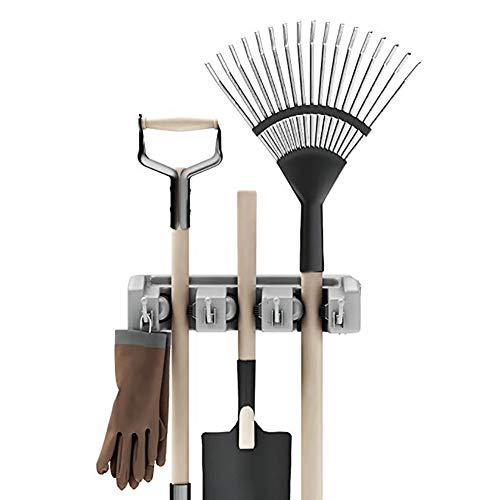 SOOKi Schaufel, Rechen und Werkzeughalter mit Haken, Wandhalterung für Garagenschränke oder platzsparende Gartengeräte (Einziehbare Bleistift-halter)
