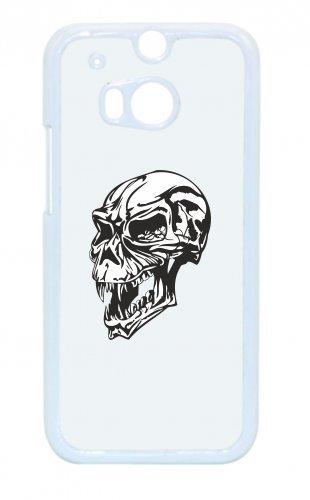 Smartphone Case teschio con occhi di fuoco Kult Rocker Biker gotico Skull Emo Old School per Apple Iphone 4/4S, 5/5S, 5C, 6/6S, 7& Samsung Galaxy S4, S5, S6, S6Edge, S7, S7Edge Hua