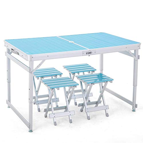 KSW_KKW Tragbare Folding Camping Tisch Aluminium-Leicht Camp Tabelle Compact Roll Up Tables mit Tragetasche for Outdoor-Camping Wandern Picknick