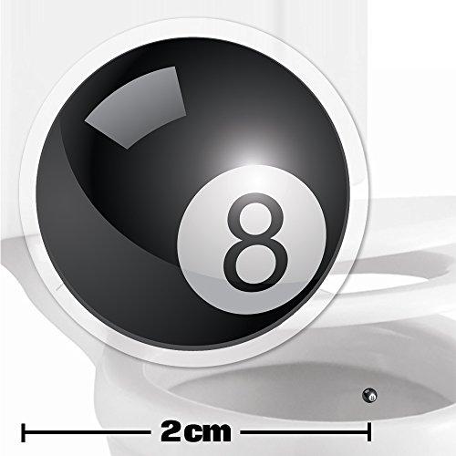 Toilettenhilfe für Kinder Säuglinge Jungs Lustige Badezimmer Bad Töpfchen Pinkelhilfe 10 x Poolball Zielhilfe Aufkleber (2 cm)