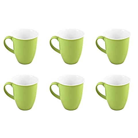 Flirt by R&B Kaffeebecher / Kaffeetasse 'Doppio', 320ml, grün, 6-teilig (1 Set)