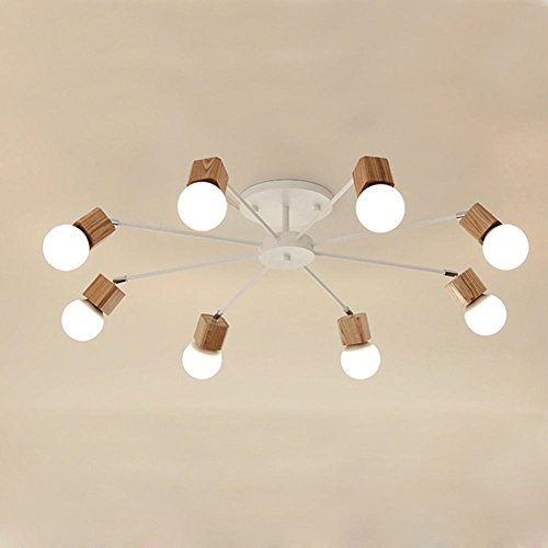 korean-air-round-plafond-en-bois-salon-lustre-white-8-head