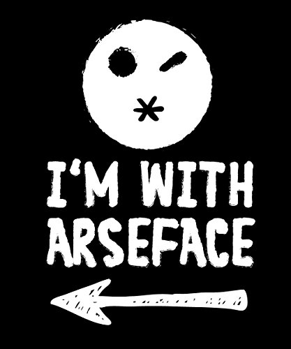 -- I'm With Arseface -- Boys T-Shirt Schwarz