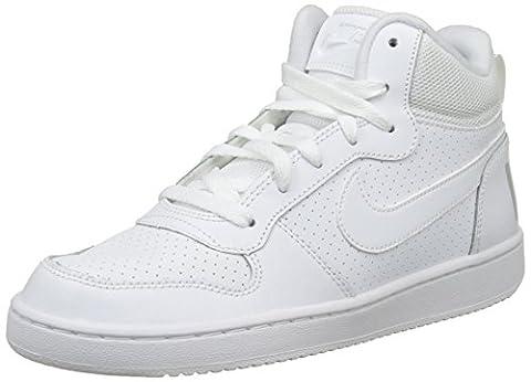 Nike Court Borough Mid (GS), Baskets Mixte Enfant, Blanc (White/White-White),