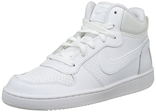 NIKE Herren Court Borough Mid Basketballschuhe, Weiß (White 100), 40 EU