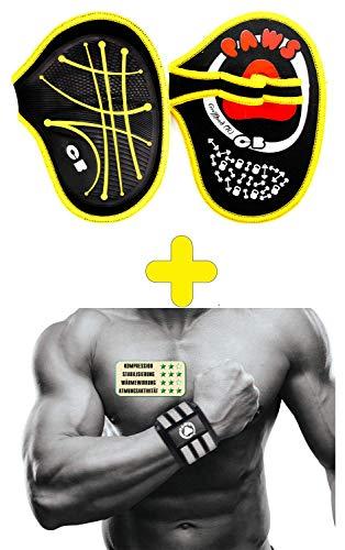 Griffpolster Griffpads,Fitness, Bodybuilding & Krafttraining, Grip Pads,Trainings Pads als Alternative zu Trainingshandschuhen für den maximalen Griff (2Mal kaufen = EINS Gratis dazu)