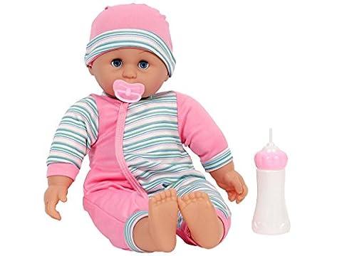 Babypuppe mit Funktion 8449 Baby Puppe mit Sound und Zubehör Baby-Puppe 10 Soundfunktionen von Alsino