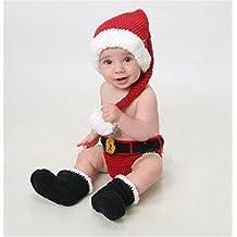 lookout recin nacido beb fotografa props tejido a mano ganchillo disfraz traje de navidad estilo encantador