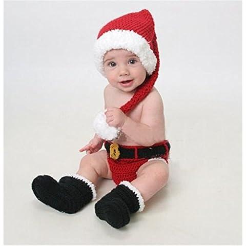Lookout recién nacido bebé fotografía Props Tejido a mano ganchillo disfraz traje de Navidad estilo encantador