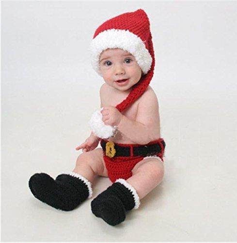 PriMi - Encantador traje navideño para bebé tejido a mano para sesiones de fotografías