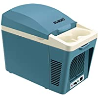 SUAOKI Auto Kühlbox tragbar 7 Liter Mini-Kühlschrank mit 12V AC/DC Anschluss für PKW / LKW Steckdose, Kühlen und Heiz-Funktion, Blau