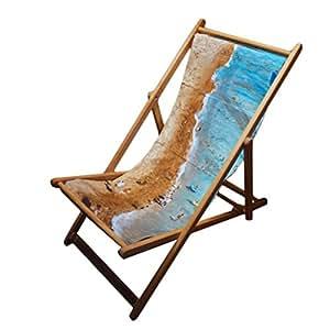 Plage d'extérieur pliante style transat chaise longue en bois-mobilier de jardin Chaise longue en bord de mer