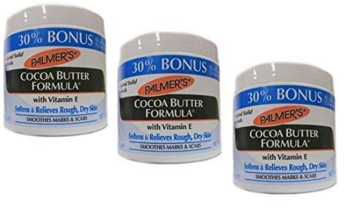 3x Palmers Palmer's Cocoa Butter Formula with Vitamin E Creme Jar 270g (810g) (Cocoa Butter Jar)