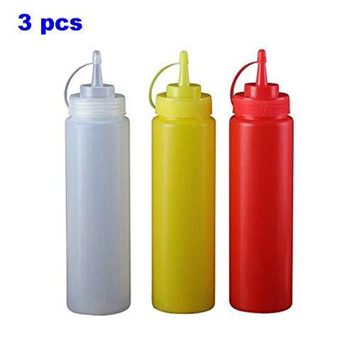 ZXX Premium-Gewürz-Quetschflaschen für Saucen, Farben, Öle, Gewürze, Salatdressings, Kunsthandwerk - BPA-frei, mehrfach verwendbar -