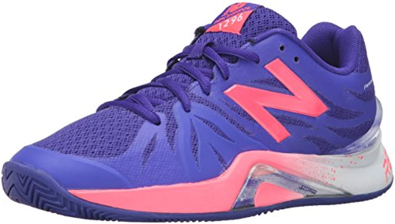 New Balance Women's 1296v2 Tennis Shoe, Blue/Guava, 5.5 B US
