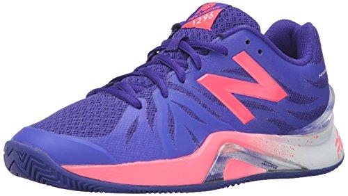 New Balance Women's 1296v2 Tennis Shoe, Blue/Guava, 10 B US Blue/Guava